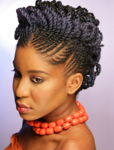 Black Natural Hairstyles we Love: Two Strand Flat Twists